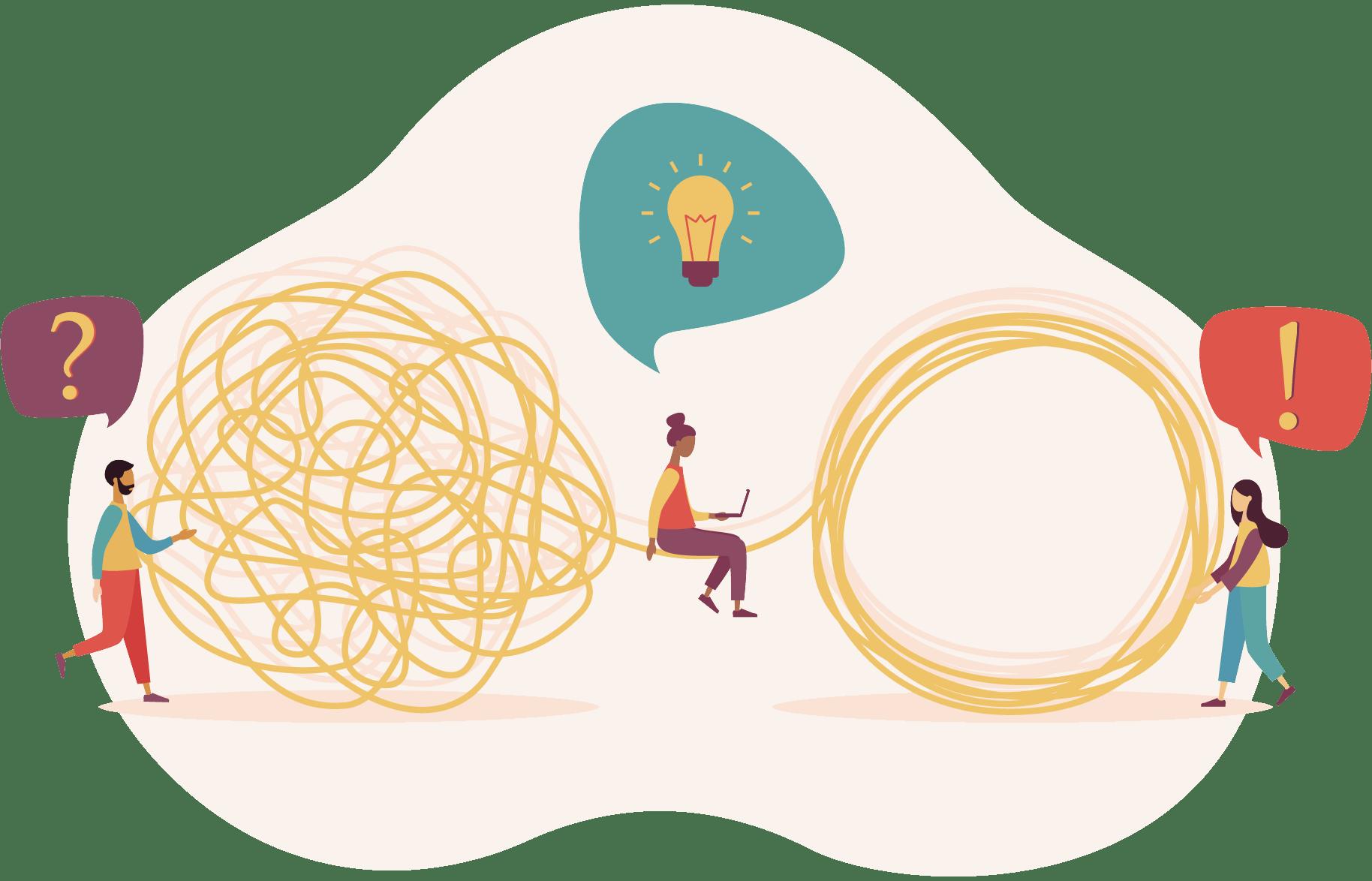 illustration de la communication